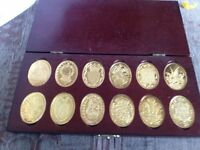 Gold plated commemorative ingots - Prince and Princess of Wales