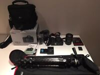 Canon EOS 5D Mark III + EF 24-105mm Lens + Manfrotto 190CXPRO4 + Extra Battery + Flash + Bag +