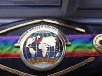 Commonwealth title boxing belt
