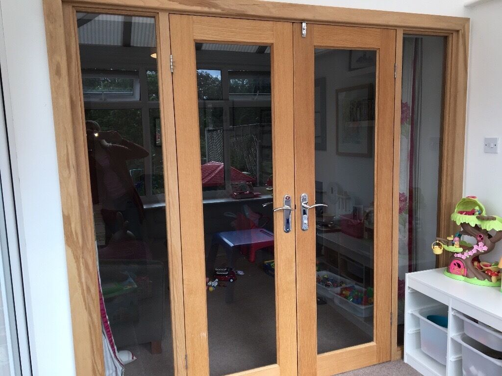 Solid Oak Internal French Doors Open To Offers