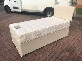 Dreams Single Divan Bed & Mattress with Draw - Delivery Available