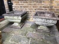 Pair of garden ornamental urns
