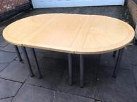 Wooden Office Conference Table With Metal Legs