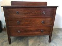 Chest of drawers, 3 drawer, wooden
