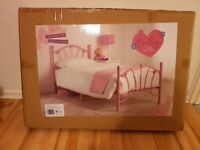 Brand new pink Emily heart frame bed
