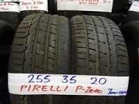 matching set of 255 35 20 PIRELLI P-ZEROS 7MM TREAD £50 EACH SUPP & FITD OR £180 SET OF 4 (7DAYS)