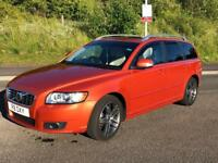 VOLVO V50 SE LUX 1.6 eDRIVE 6 GEARS START/STOP 113BHP £0 TAX SAT NAV PARKING SENSORS SUNROOF LEATER