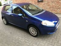 Fiat Punto Grande, 2009 five doors, Blue, one previous owner,Two sets of Keys, low milleage