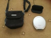 SONY CD Walkman, Speakers and Pullman Carry bag