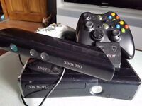 X box 360 console/ remotes & charger and 21 games