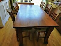 Dining table with 6 chair's