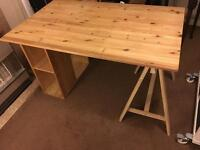 Desk solid pine - tabletop and two legs