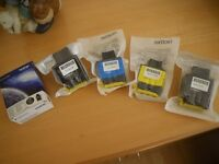 BROTHER INK CARTRIDGES x 5 JOB LOT. LC900 BLACK X 3; LC900C X 1 and LC900Y X 1. NEW.
