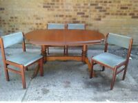 Cherry Wood Extending Table and 4 Chairs
