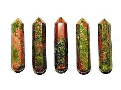 Zentron Crystals 60mm Unakite Gemstone Massage Wand Chakra  Meditation