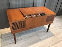 HMV Stereomaster record player with VHF Radio - model 23301 - mid century collectable circa 1968