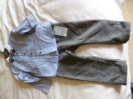 Special occasion Outfit Shirt/trousers/bow tie by Mothercare BNWT 9-12 mths