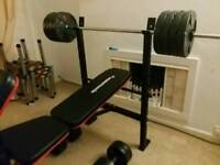 maximuscle bench and 70kg g weights