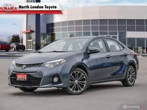 2015 Toyota Corolla S One Owner, Toyota Serviced