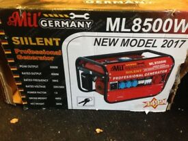 Mobile petrol generator ML8500W - new unused ​