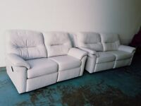 G PLAN WASHINGTON LEATHER RECLINING SUITE 3 SEATER & 2 SEATER RECLINER SOFA SETTEE CAN DELIVER