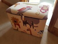 Toy Box - Jungle themed - matching single sofa bed and bean bag also available