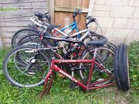 Job Lot of 5 Bikes, Mountain Bikes . Spares and Repairs