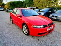 2004'54 SEAT LEON 1.9TDi '150 CUPRA'-6'SPEED-NEW MOT-112K,13 STAMPS