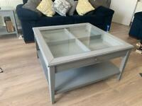 IKEA Liatorp Coffee Table (grey/glass)
