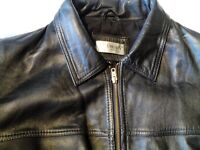 "Mens Black Leather jacket VGC Size 42"" chest"
