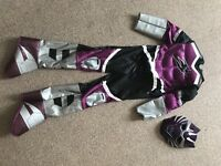 Purple power ranger fancy dress size small