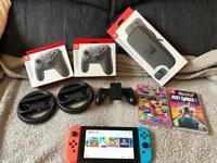 Nintendo Switch + 5 Games + BIG BUNDLE