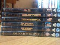 6 James Bond 007 DVDs