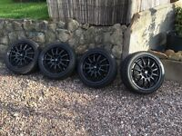 Set of black alloys 17""
