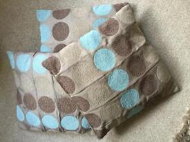 Next duck egg spotted cushion covers x 4
