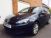 2011 11 Volkswagen Golf Match 1.6 TDI++Full VW History+Cambelt+ Mk6 New Shape 125k not a3 astra a4