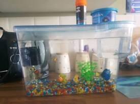 Nemo Fish Tank with fish & accessories