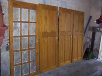 4 solid pine doors.