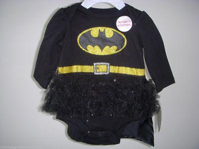 NWT Girls Size 0-3 Months * BATMAN * 2-Pc Tutu Bodysuit w/Removable CAPE Costume (Girl Batman Costumes)