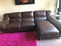 DFS BROWN LEATHER VERY LARGE CORNER SOFA - MUST GO ASAP - FREE DELIVERY SOME AREAS- £495