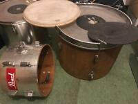 Pearl and Assorted Drum Kit Pieces