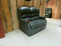 HSL 2 Seater Leather Sofa (100% Real Leather)