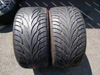 """Pair 255/40/17"""" Federal 6mm Part Worn Tyres For Alloys Alloy Wheels"""