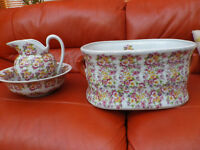 VICTORIAN STYLE JUG BOWL AND FOOTBATH FOR SALE