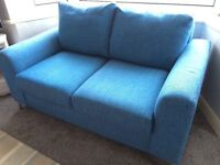 2 seater blue sofa