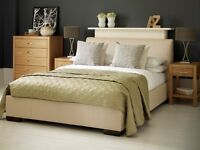4ft6 Faux Leather Bedframe