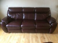 VGC 3 Seater Leather Recliner from Richard F Mackay