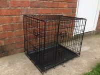 BRAND NEW SMALL DOG CRATE, 24 INCHES LONG, 18 INCHES WIDE AND 20 INCHES TALL