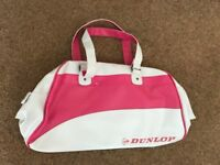 DUNLOP SPORTS BAG BRAND NEW WHITE WITH PINK