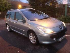 PEUGEOT 307SW 55 PLATE 1.6 HDI ESTATE YEARS MOT MINT CONDITION £995